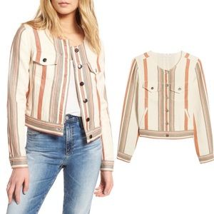Rebecca Minkoff Charlie Striped Crop Jacket